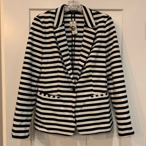 NWT Express Black & White Striped Blazer
